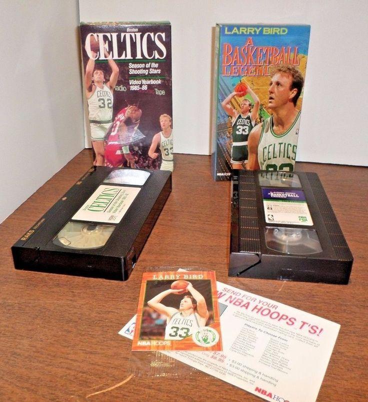 VINTAGE 1991 VHS LARRY BIRD A BASKETBALL LEGEND WITH SEALED HOOPS TRADING CARD #BostonCeltics