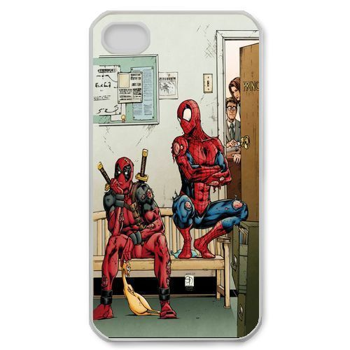 Funny Spiderman And Deadpool Case for iPhone 4S 5 5S 5C 6 6S Tou Plus Samsung Galaxy S3 S4 S5 Mini S6 Edge A3 A5 A7 Note 2 3 4 5