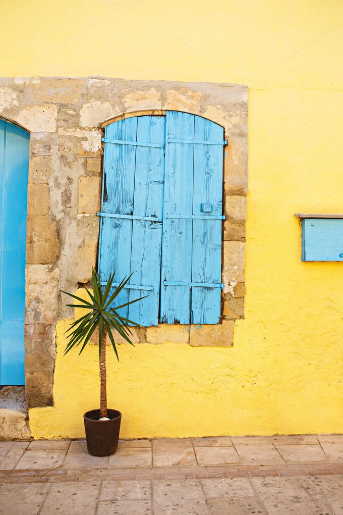 Check out Old window with shutters closed by odpium on Creative Market