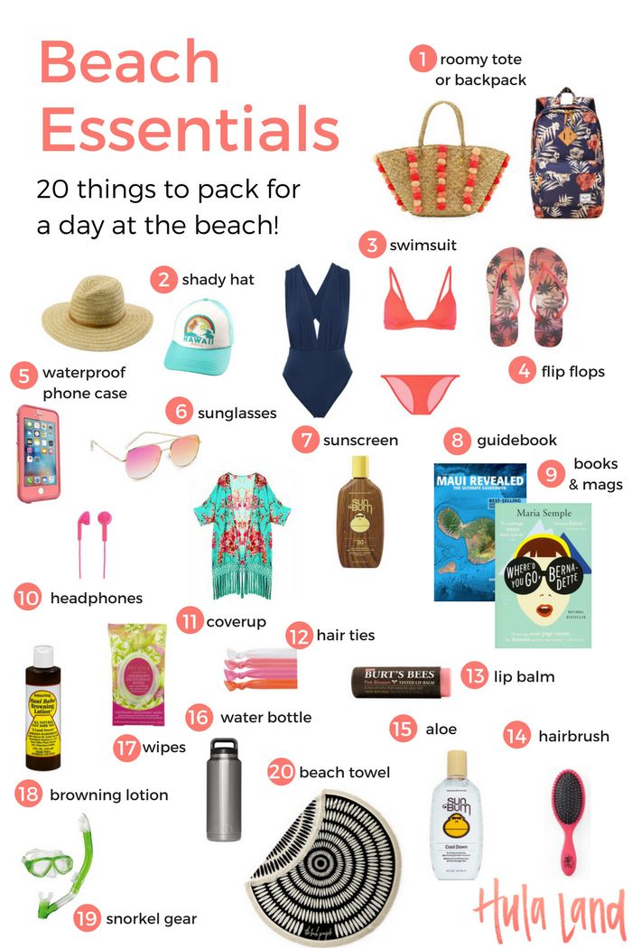 20 Beach Bag Essentials: Use this beach packing list so make sure you don't forget anything important!