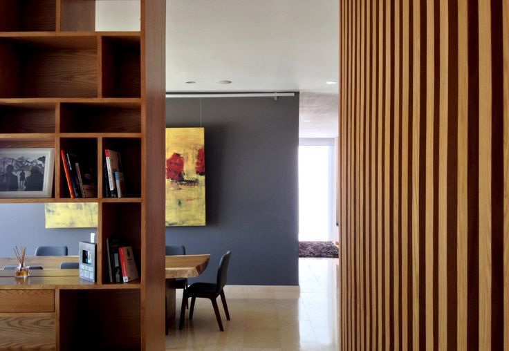 Penthouse HT | Dionne Arquitectos | #bookcase #penthouse #wood #dinningroom #indoor #design #interior #lighting