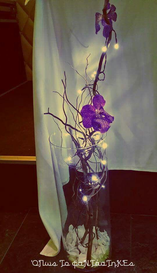 Wedding Decoration with purple orchid