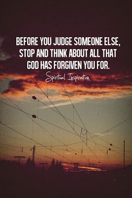 It's hard not to judge other people sometimes, but we're all fighting our own battles and no one knows what we've all been through, it's not in our place to judge.