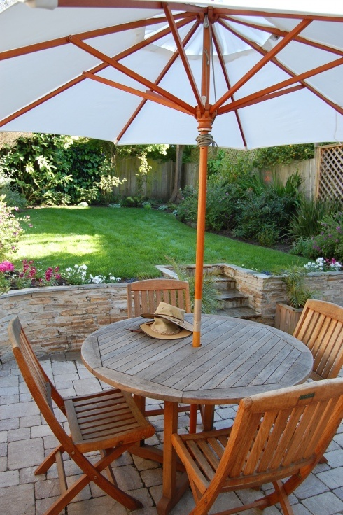 patio and small yard