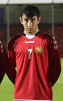 Levon Ananyan in the Armenia v Switzerland UEFA European Under-19 Championship Qualifying Round match at New Douglas Park, Hamilton on 11.10.12.