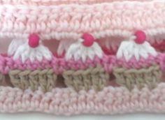 Crochet Cupcake Stitch - Chart ❥ 4U hilariafina http://www.pinterest.com/hilariafina/