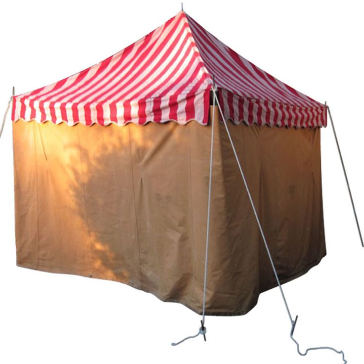 Canvas Tent Awning Striped Circus Design circa 1940s  sc 1 st  Pinterest & 44 best History of Tents and Portable Architecture images on ...