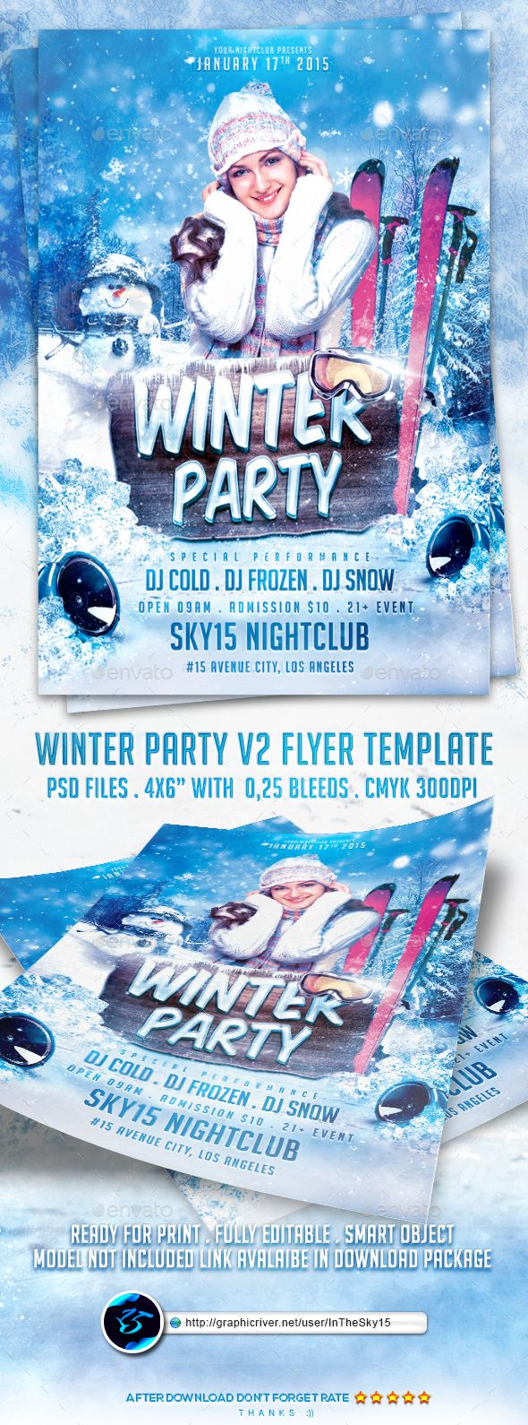 best images about flyer template adobe photoshop winter party flyer template