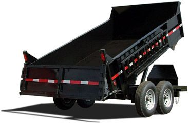 14000 GVWR Standard Wood Floor Equipment Trailer by ...  Kaufman Dump Trailers