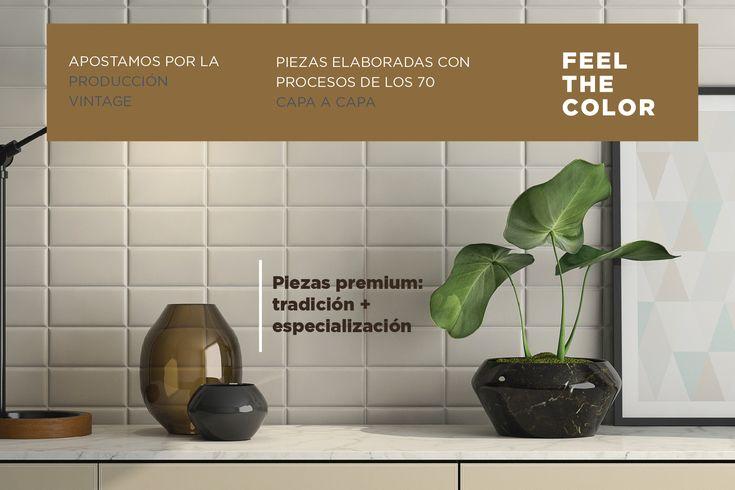 PRODUCCIÓN VINTAGE | Capa a Capa Especializados en métodos tradicionales de producción de los años 70 para elaborar PIEZAS PREMIUM ↡ #Cerámica #Premium #Tiles #Ceramics #Azulejos