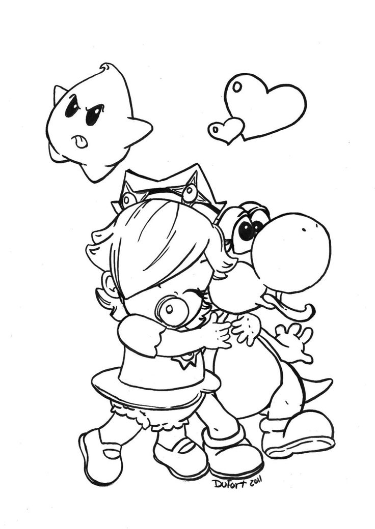 Baby Rosalina Coloring Pages