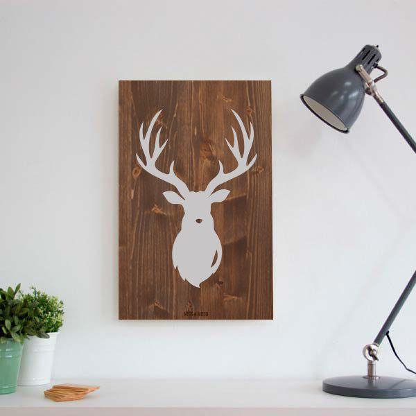 Woody l cuadros de madera estilo nordico y vintage reno - Cuadros vintage madera ...