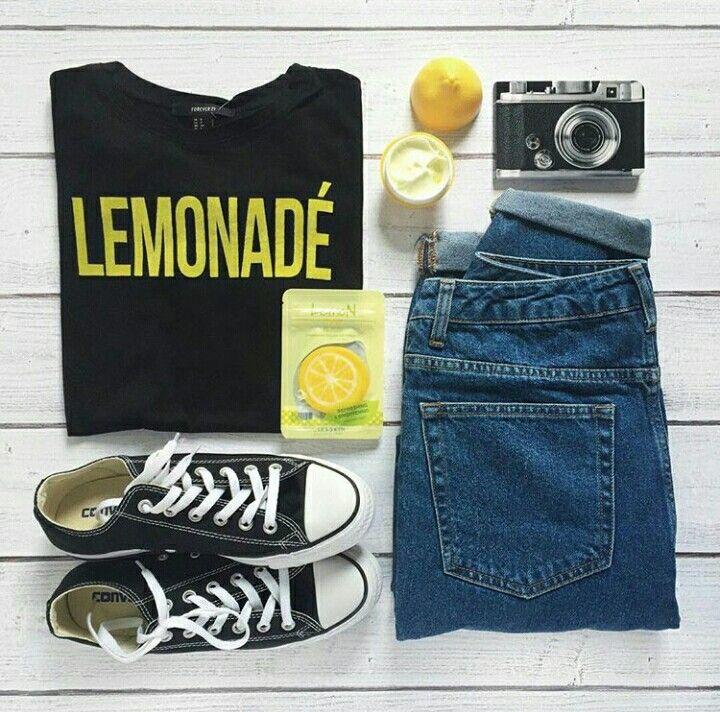 Look lemonade!! #jeans #stilo #tenis #converse #moda #rock
