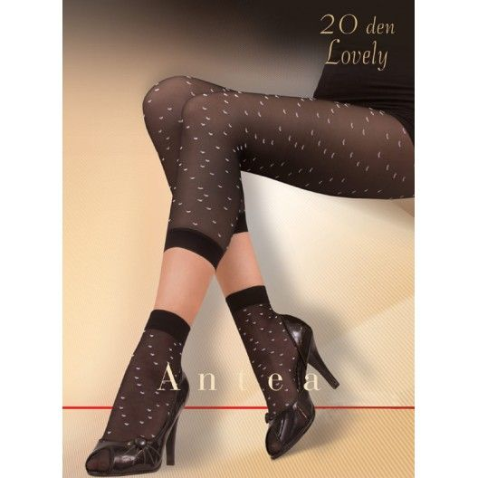 Cute footless tights with a cute pattern and matching socks.