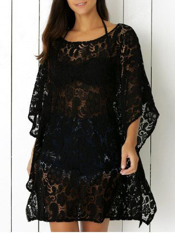 Openwork Lace Cover Up Dress Cover-Ups & Kaftans | RoseGal.com Mobile
