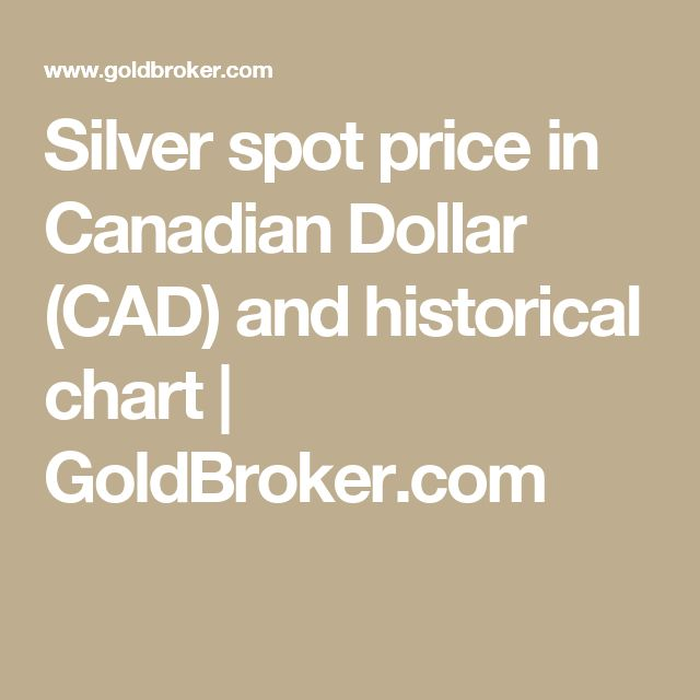 Silver spot price in Canadian Dollar (CAD) and historical chart | GoldBroker.com