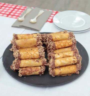 Brandy snaps de Mercotte - les meilleures recettes de cuisine d'Ôdélices