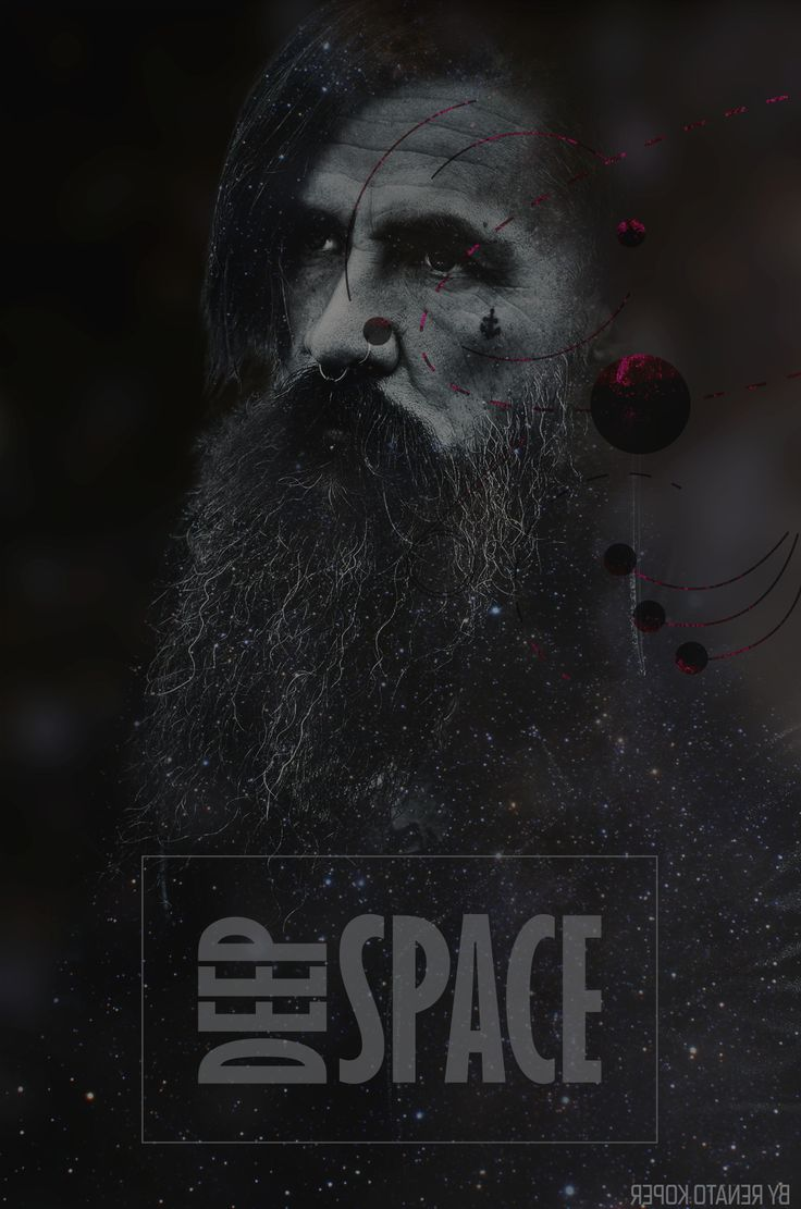 With beard in space.  by Renato Koper