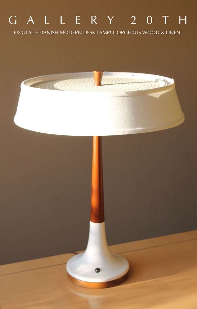 GORGEOUS MID CENTURY DANISH MODERN CHERRY WOOD DESK LAMP! Wegner 1950s  Eames Vtg