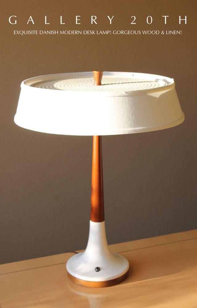 159 best mid century modern lamps images on pinterest light design gorgeous mid century danish modern cherry wood desk lamp wegner 1950s eames vtg aloadofball Gallery