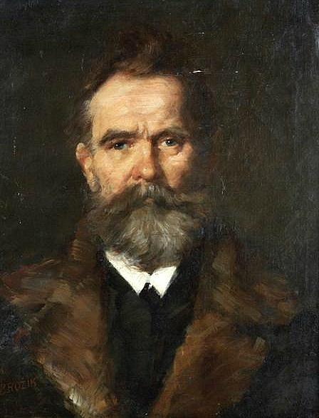 VACLAV BROZIK (1851-1901)  Self-Portrait