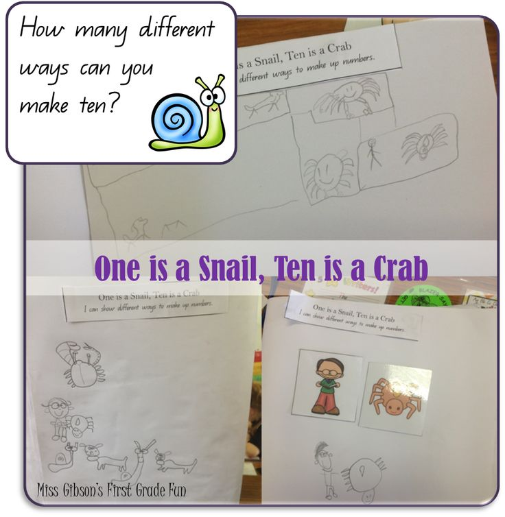 Miss Gibson's First Grade Fun - Place Value warm ups - One is a Snail, Ten is a Crab