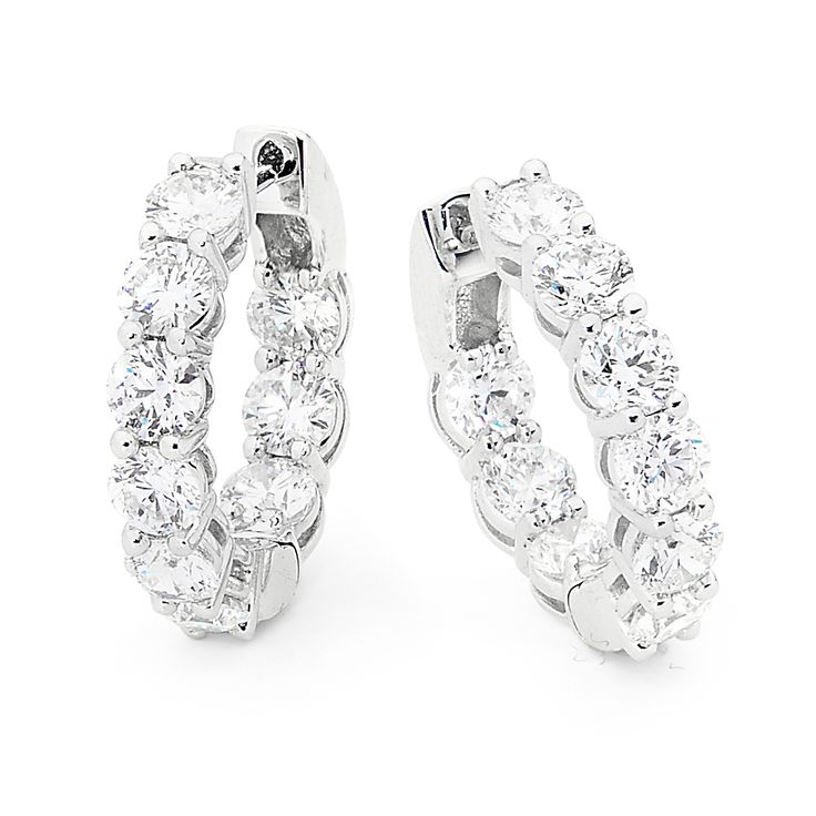 DIAMOND HOOP EARRINGS   #diamondsinternational #love #style #diamond #earrings #whitedaimonds #diamondjewellery