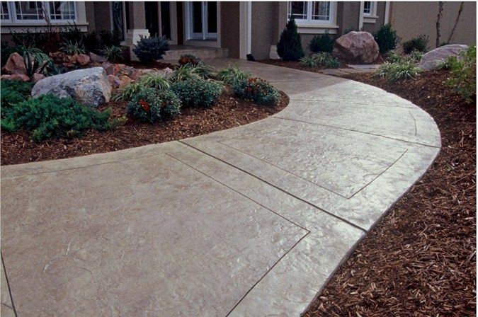 Texas stamped concrete walkway concrete walkways one for Concrete house texas
