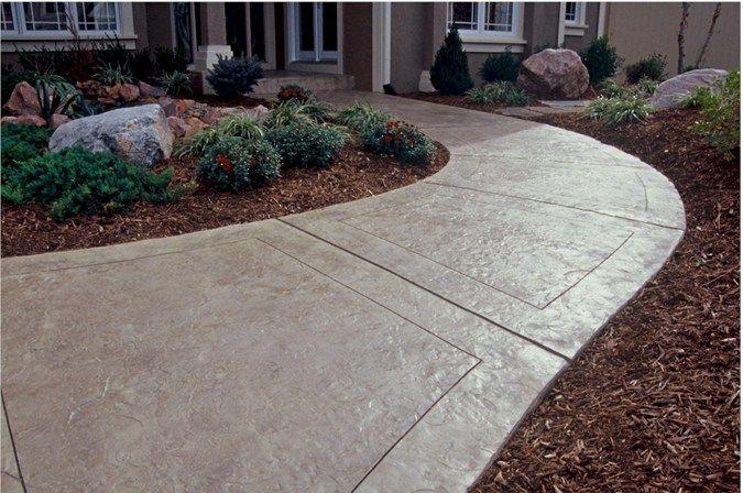 Texas stamped concrete walkway concrete walkways one for Concrete house texas