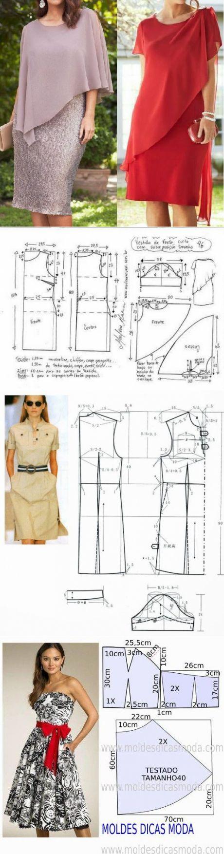 Мастера и умники: Простые и красивые выкройки летних платьев.