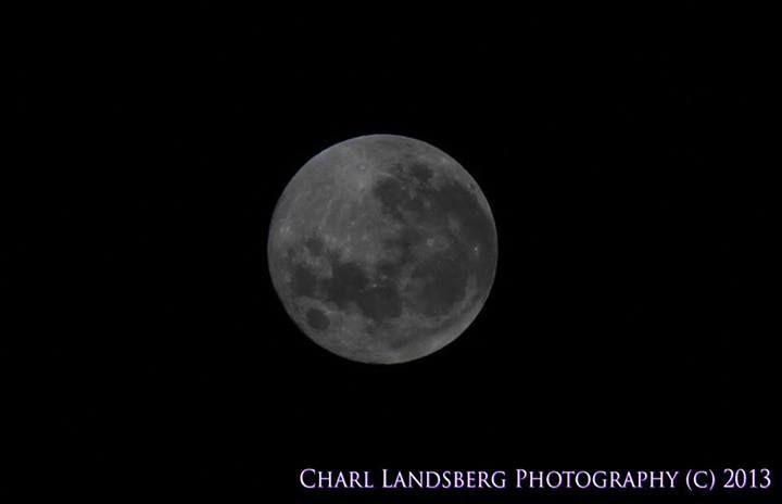 Moon over Pietermaritzburg
