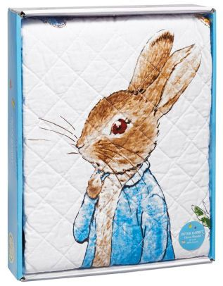 Peter Rabbit Story Book White and Blue Border Children's Throw 38