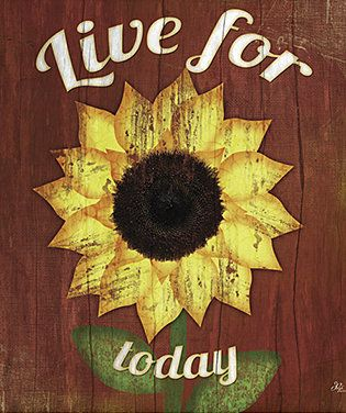 'Live for Today' Framed Wall Art