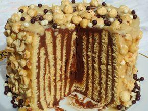 Tarta rayada de nutelas Ana Sevilla con Thermomix