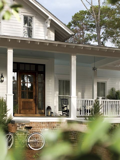 Wrap around porch brick steps back porch pinterest Brick home plans with wrap around porch