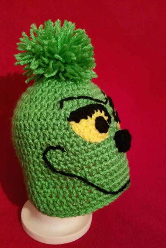 179f8214 Crochet Grinch Hat - (Infant-Adult Sizes) - Infant Grinch Hat - Adult  Grinch Hat - Christmas Hats For Kids - Holiday Hat - Whoville Hat | Crochet  Baby Hats ...