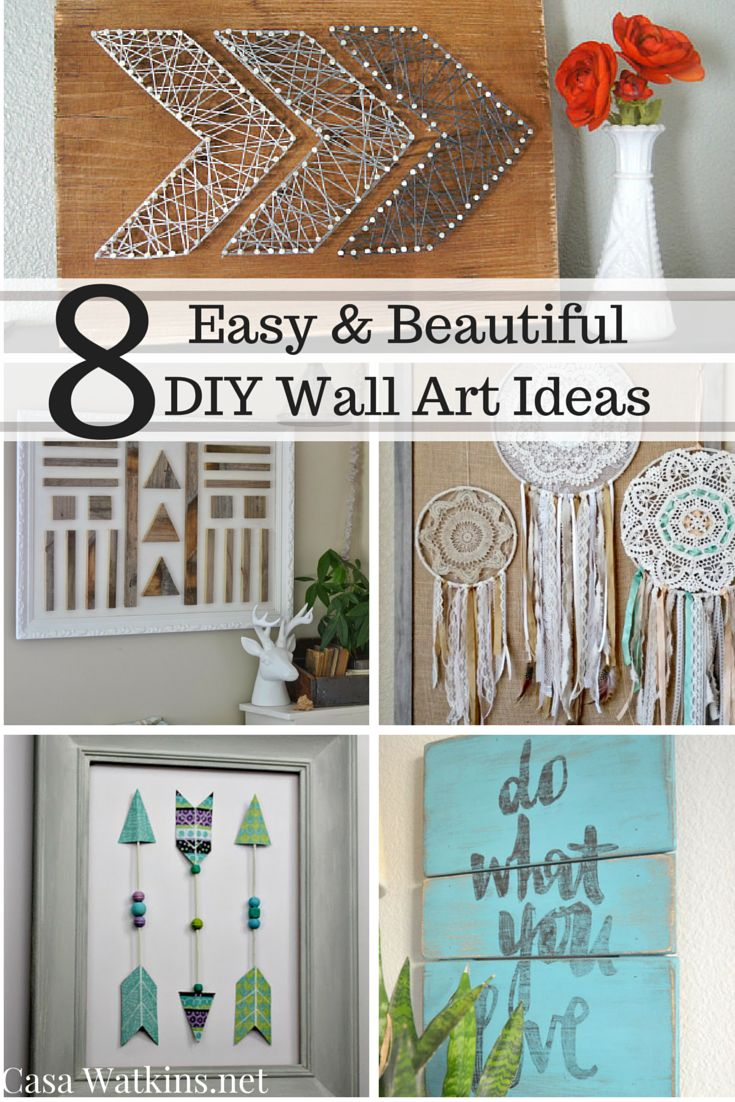 casa watkins: 8 easy and beautiful diy wall art ideas | decorating