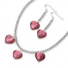 stering silver glass #earrings #valentines