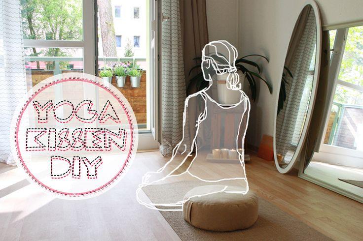 DIY Anleitung Yogakissen (Meditationskissen) mit Griff selbst nähen