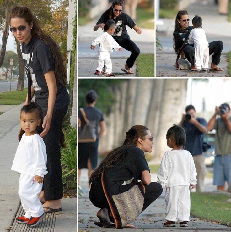 Angelina and Maddox 2003