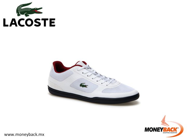MONEYBACK MEXICO. Contrasting color provide a very elegant minimalist look in these LACOSTE sneakers. All Lacoste shops in Mexico are affiliated to our tax refund service for foreign travelers! #moneyback www.moneyback.mx