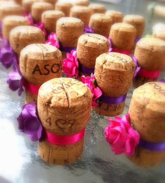 Unique Champagne Cork Weddings Table by KarasVineyardWedding