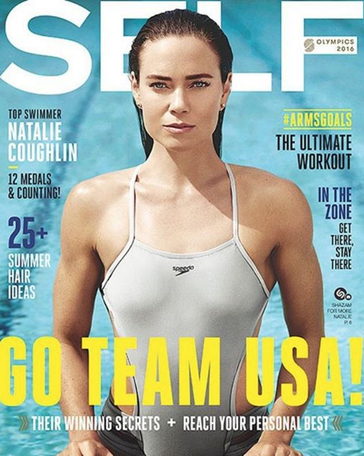 Natalie Coughlin on the cover of Self!