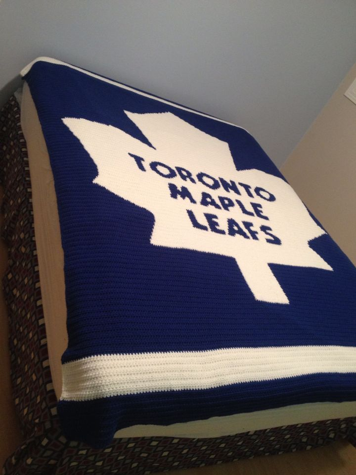 Need This Pattern For MarcCrocheted Toronto Maple Leafs Blanket Crochet Blanket Patterns