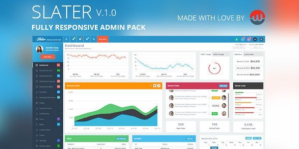 Slater is a modern design Responsive Bootstrap Admin Template. A easiest admin template and have your site up & running in five minutes!