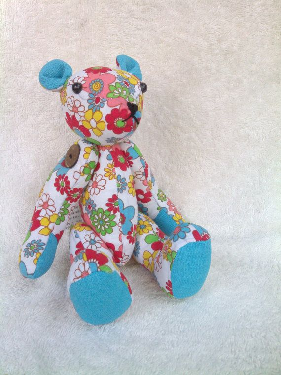 handmade teddy bear plush doll by aikoscloset on Etsy