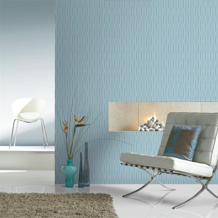 Lucid Striped Wallpaper   Blue Stripes Wall Coverings By Graham Brown