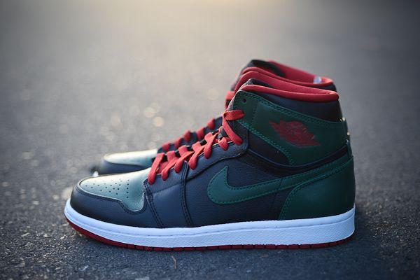 Air Jordan Retro 1 - Black/Gym Red-Gorge Green #Shoes #Fashion