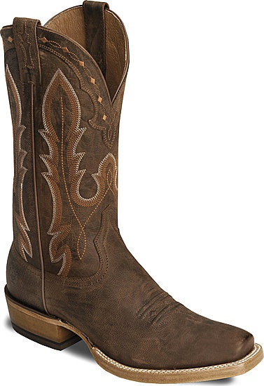 Men's Ariat brown hotwire cowboy boot, square toe.