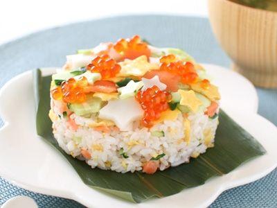 chirashi sushi with stars